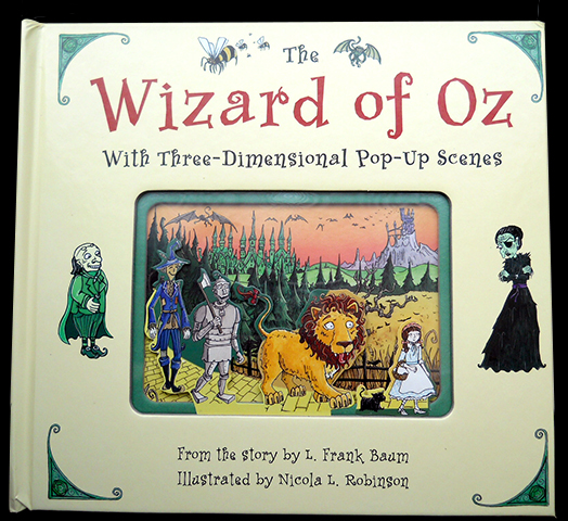 Illustrated Book Cover Generator ~ The wizard of oz pop up book nicola l robinson