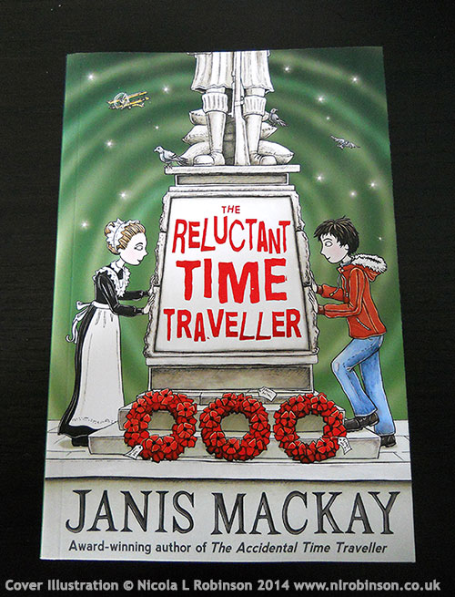The Reluctant Time Traveller by Janis Mackay cover illustration © Nicola L Robinson