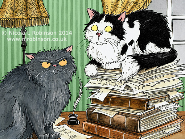 Persian Cats illustration © Nicola L Robinson. All rights reserved. www.nlrobinson.co.uk
