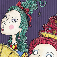 Cinderella Ugly Sisters Illustration © Nicola L Robinson