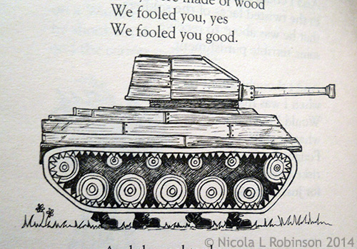 What Are We Fighting For? New Poems About War Brian Moses and Roger Stevens Illustrated by Nicola L Robinson published by Pan Macmillan