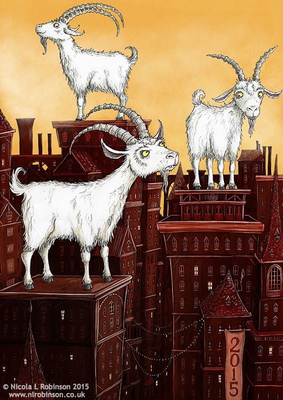 Year of the Goat Illustration © Nicola L Robinson All rights reserved. www.nlrobinson.co.uk